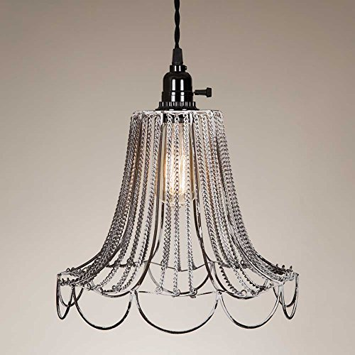 CTW 930102W Shabby Chic Pulldown Wire Pendant Lamp