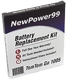 Kit de Remplacement de Batterie pour TomTom Go 1005 Série (Go 1005, Go 1005 LIVE) GPS avec Vidéo d'Installation, Outils, et...