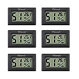 Thlevel 6PCS LCD Digitale Termometro Igrometro - Mini Temper
