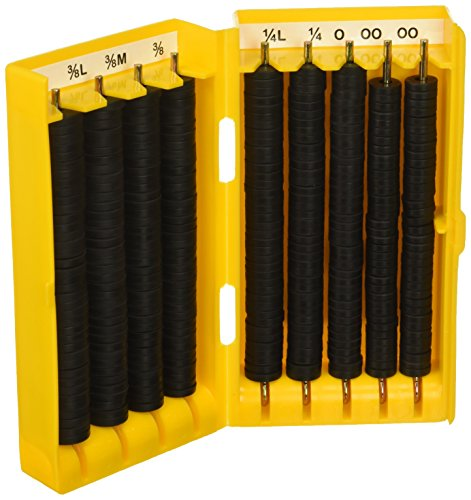 Suncraft Industries - B00069DYPI Flat Faucet Washer Bibb Kit - 280 Piece Kit, Black