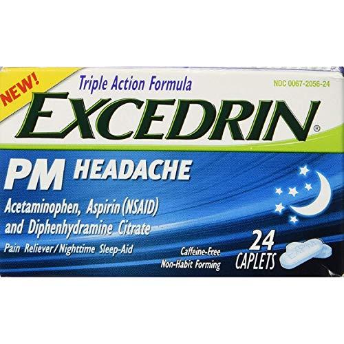 Excedrin PM Headache Caplets - 24ct, Pack of 3