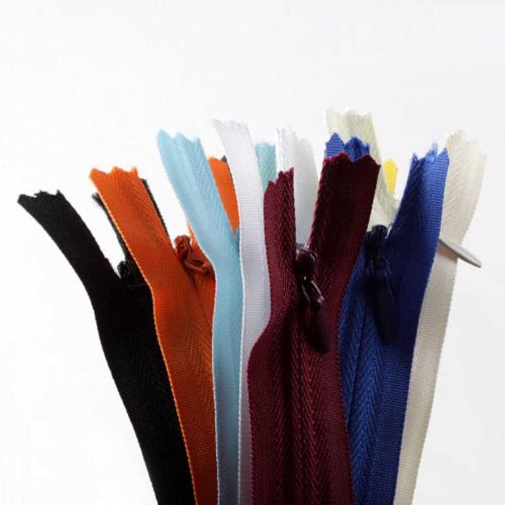 20pcs 9 inch YKK assorted color invisible zippers-Made in USA-