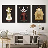 Cuadros de diosas griegas Tarot Poster femeninos Impresiones en HD Pintura de lienzo nórdica Decoracion de la pared de la habitación Regalo de inauguración de la casa moderno 40x50cmx3 Sin marco
