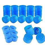 30Pcs Non Spill Caps Anti Splash Bottle Caps,Reusable 55mm 3 and 5 Gallon Non-Spill Cap,Replacement Water Bottle Snap On Cap