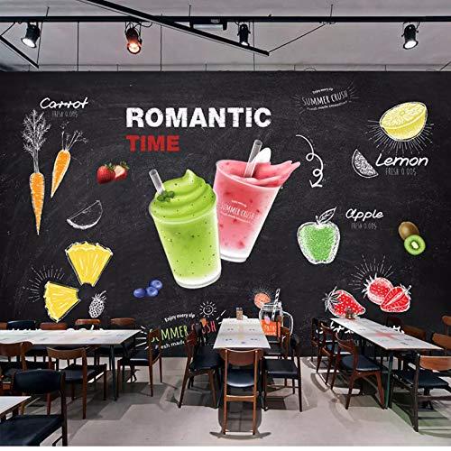 Pmhc muurschildering, 3D, voor dranken, kunst, wandschildering, bar, snack, ijs, melk, thee, decoratie, wandbehang 280 x 200 cm