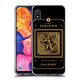 Head Case Designs Officially Licensed HBO Game of Thrones Lannister Border Golden Sigils Soft Gel Case Compatible with Samsung Galaxy A10e (2019)