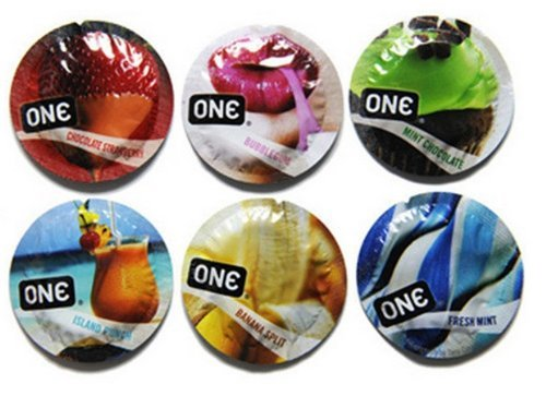 ONE Color Flavor Waves Assorted Condoms - 24 Latex Condoms