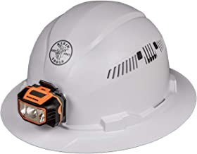 Klein Tools 60407 Hard Hat with Light, Vented Full Brim Style, Padded, Self-Wicking..