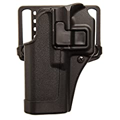 Passive retention detent adjustment screw and SERPA Auto Lock release Reinforces full master grip and superior draw technique Immediate retention and audible click upon re-holster for security Includes belt loop and paddle platform This holster will ...