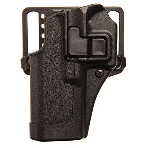 BLACKHAWK Serpa CQC Belt Loop and Paddle Holster For Glock 26/27/33, Right Hand, Matte Black - 410501BK-R