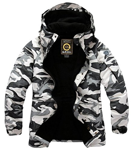 Mens Premium Waterproof Ski Snowboard Board Wear Jacket Jumper Parka Camo