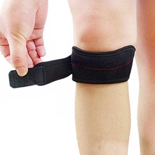 Romote ayuda de la rodilla Deportes ajustables Gimnasio tendón rotuliano Brace venda de la correa El nuevo protector