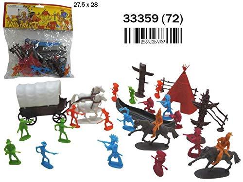 Rama Figuras Indios Y PISTOLEROS EN Bolsa 33359