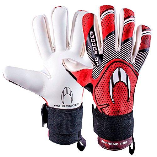 HO Soccer Pro Obersten Negative Torwarthandschuhe, Unisex Erwachsene 7,5 rot/schwarz/weiß