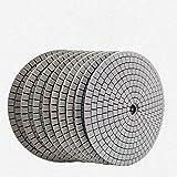 Almohadilla de pulido de diamante que lijado almohadillas de pulido para el disco de la rueda del pulidor del piso del mármol de la piedra del granito