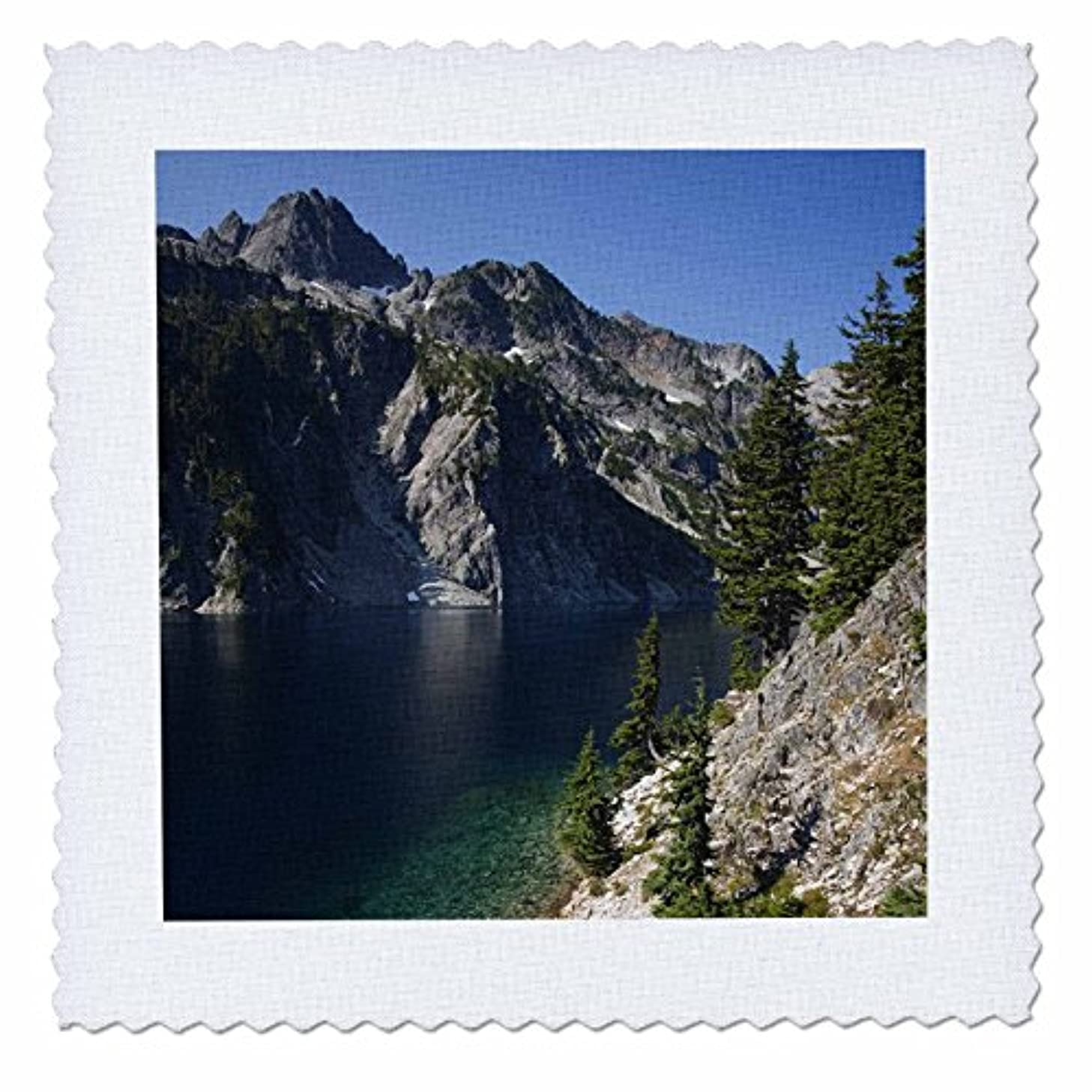 3dRose qs_95920_9 WA, Alpine Lakes Wilderness, Snow Lake-US48 JWI1159-Jamie and Judy Wild-Quilt Square, 22 by 22-Inch