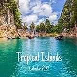 Tropical Islands 2022 calendar: Tropical Islands 2022 wall calendar, office calendar, 18 Months