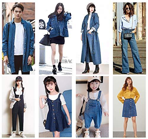 MUYUNXI 100% Algodón Tela Vaquera por Metros para Coser Ropa Jeans Cojines Falda Chaqueta 150 Cm De Ancho Vendido por Metro(Color:Azul Oscuro)