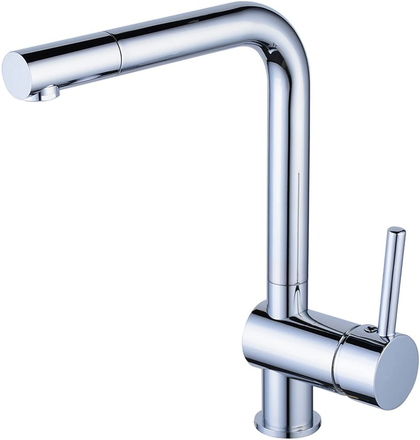 Beelee Single Lever Chrome Kitchen Sink Mixer Tap, Contracted and Contemporary Style High Arch Square Swivel Spout Lead Free Solid Brass Body