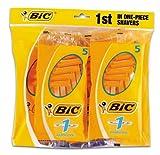 BiC 1 Sensitive - Cuchillas de afeitar desechables para hombre (8 paquetes de 5 unidades)
