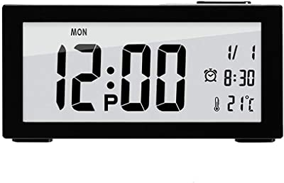 Minmin-naozhong Fuente de alimentación USB Reloj Despertador electrónico Reloj Perezoso Reloj de cabecera Reloj