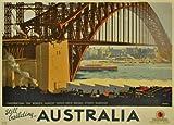 World of Art Vintage Travel Australia für Sydney Harbour