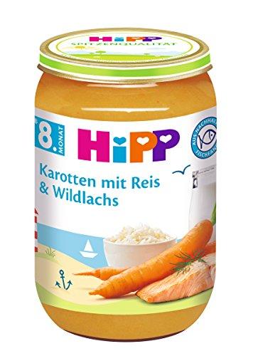 HiPP Karotten mit Reis und Wildlachs, 6er Pack (6 x 220 g)