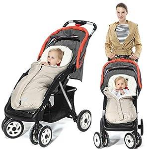 Orzbow Saco silla paseo invierno Universal para Cochecito y Silla de paseo – para carro bebe,capazo – Impermeable a…