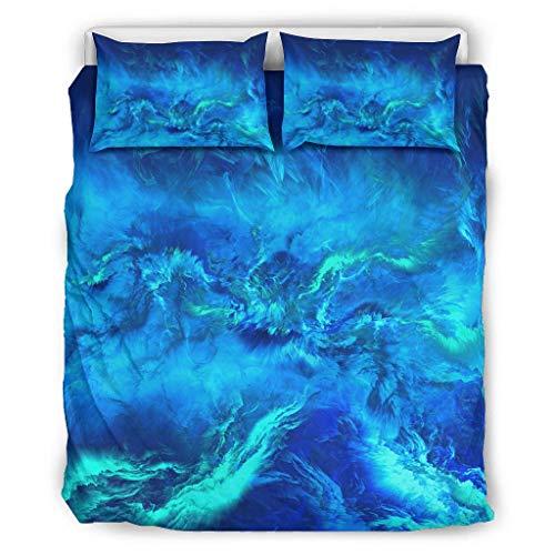 shenminqi Sky - Juego de cama de microfibra ultra suave para adolescentes (168 x 229 cm), color blanco
