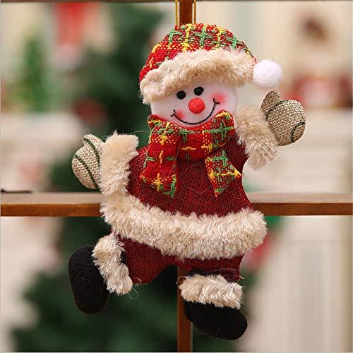SHJIA Decoración Navideña Colgante Árbol De Juguete Adorno Colgante Santa para Decoración del Hogar Regalo para Niños 4Pcs