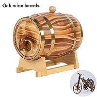 ワイン樽オーク樽、ビールウィスキーラム港(1.5L、3L、5L、10L)のためのヴィンテージウッドオーク木材ワイン樽のオーク樽 (Color : Multi-colored, Size : 5L)