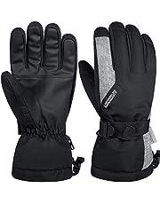 LANYI 手袋 メンズ レディース スキーグローブ スノボー スノーボード バイク グローブ 冬 防寒手袋 自転車 ランニング 登山 防水 防風 保温 アウトドア ビジネス 厚手 中綿 男女兼用 S-XL