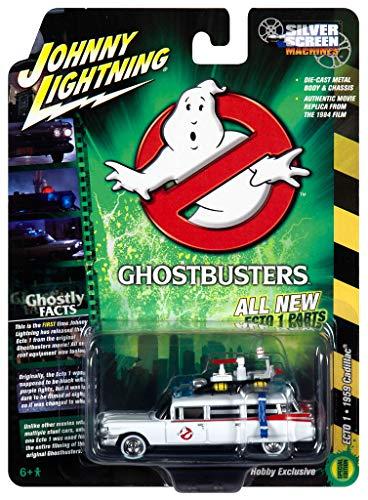 1959 Cadillac Eldorado ECTO-1 Ambulance White Ghostbusters (1984) Película 1/64 de Johnny Lightning JLSS006