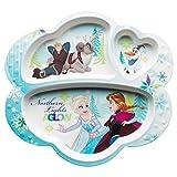 Zak Designs FZNC-0010 Disney Kids Divided Plates, Frozen Girl