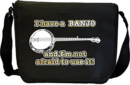 Musicalitee Banjo Not Afraid Use - Sheet Music Messenger TRIO Document Bag Musik Notentasche