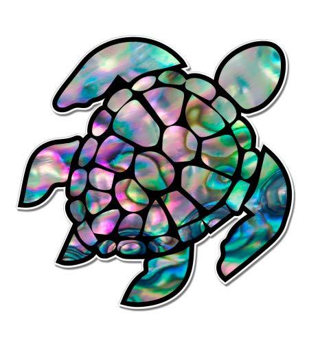 Sea Turtle Natural Shell Pearl Texture Green Purple - 3