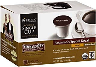 Newman's Own Organic, Newman's Special Blend, Decaf Coffee, 12-Count K-Cups (Pack of 2)