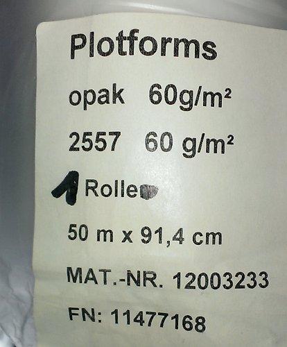 Inkjet-Papier Sihl 2557, 60 g/qm, 50m lang, 91,4 cm breit, 1 Rolle, opak