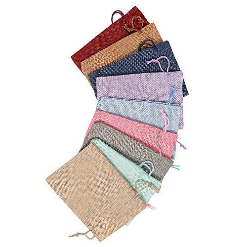 styleinside Bolsas de arpillera con bolsa de regalo de cordón para boda, fiesta, 50 piezas/100 unidades, color aleatorio, 100 unidades