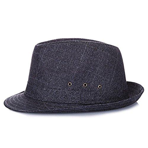 NYDZDM Sombreros de sol para hombre, de mediana edad, de verano, de viaje, de vacaciones, de sol, de etiquetas transpirables (color: azul, tamaño: 60 cm)