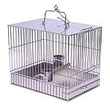 ZTMN Gabbia per Uccelli Gabbia per Uccelli in Acciaio Inossidabile Gabbia per Il Bagno Gabbia per Il Trasporto Esterna Gabbia per pappagalli Gabbia per Struzzo Piccola e Media Taglia per Uccelli