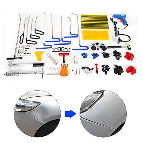 104 Pezzi Kit di Riparazione per ammaccature Auto, Paintless Dent-Set attrezzi per rimozione ammaccature per ammaccature Kit di riparazione Ding-danni