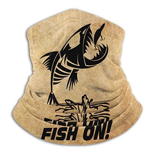 hasakii Fisch auf Herren Fleece Neck Warmer Neck Gamaschen Warme Neuheit Bandana Gesichtsmaske Neck Schal