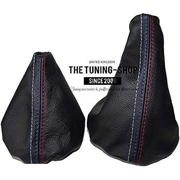 The Tuning-Shop Ltd Gear /& cuffia leva freno a mano in pelle nera cuciture beige