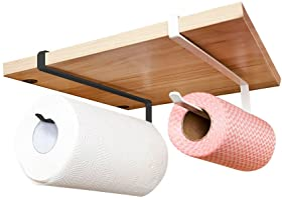 2 Pack Paper Roll Holder, Paper Towel Roll Holder Dispenser Napkins Storage Rack,Kitchen Toilte Organization Storage
