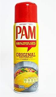 (3 Pack) PAM Aceite Comestible en Aerosol puro de Canola; Original, Antiadherente 141 g (Presentación puede variar)