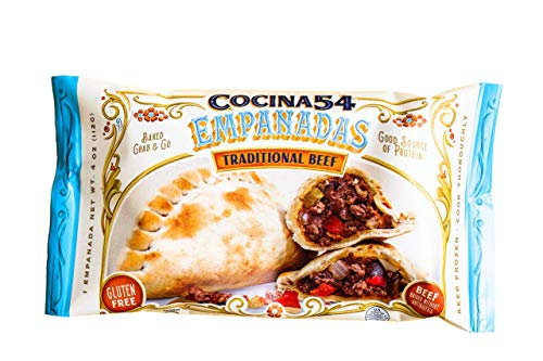 Cocina 54 Traditional Beef Empanadas, 4oz, 12 Pack, All-Natural, Made From Scratch, Grab & Go, Gluten-Free