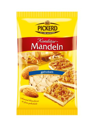 Pickerd Mandeln gehobelt, 3er Pack (3 x 200 g)