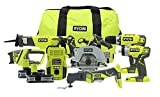 Best Power Tool Combo Kits - Ryobi P884 One+ Combination Lithium Ion Cordless Power Review