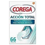 Corega Acción Total Tabletas Limpiadoras para Prótesis Dentales,...
